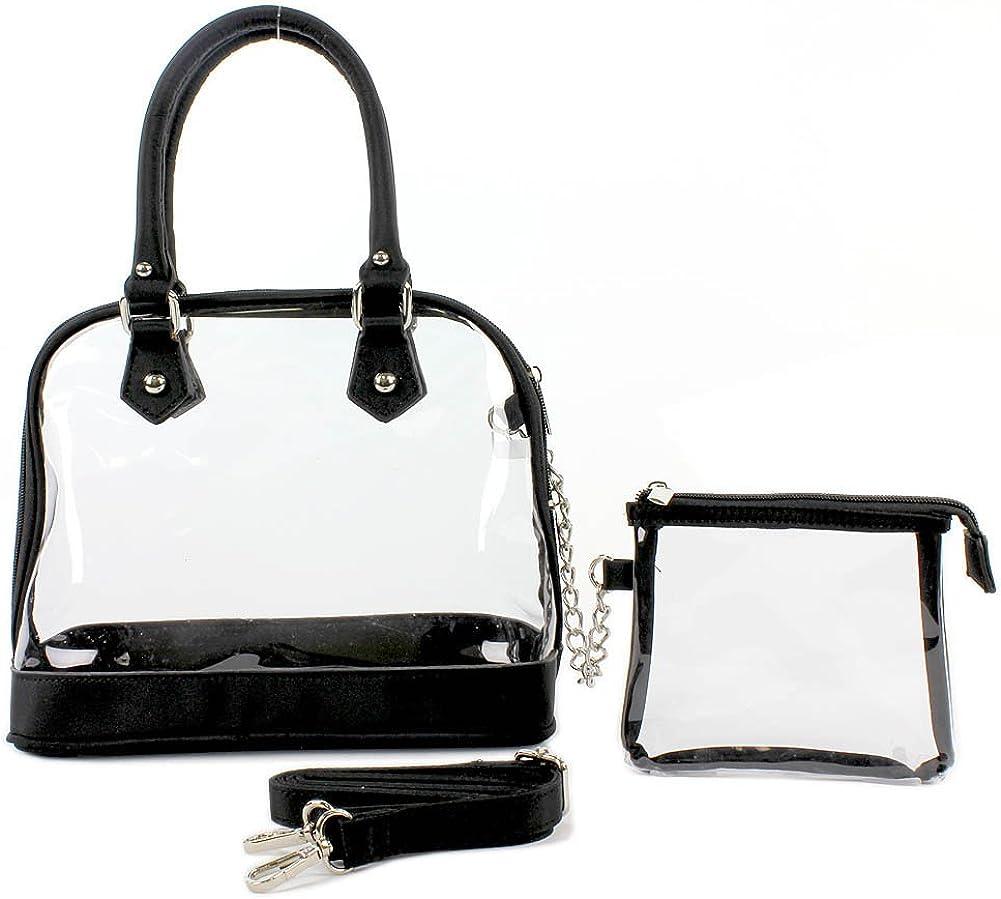 CLEAR PVC - SMALL BOWLING BAG W/ DETACHABLE STRAP - Black Color - BG-TM6-5388BK