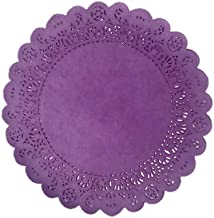25 Pack - Quality Hand Dyed Vibrant Purple Paper Lace Doilies | Choose from 6