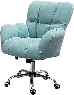 Silla de oficina ergonómica giratoria Silla giratoria de comedor / oficina, altura ajustable, giratoria de 360 °, silla de escritorio para computadora, silla de trabajo con patas cromadas con rued