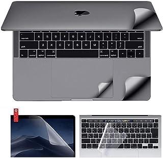 MacBook本体3M目に見えない保護フィルム スキンシール ケース カバー デカール ステッカー、画面保護フィルム、日本語キーボードカバー、6 in 1パッケージに適しています (2016-19 MacBook Pro 15 A1990 A1...