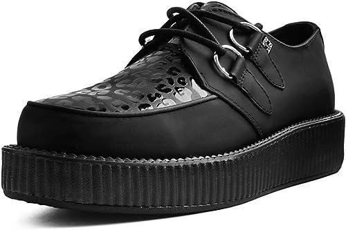 T.U.K. chaussures Hommes Femmes PU Léopard Print Semelle Basse EU38   UKW5