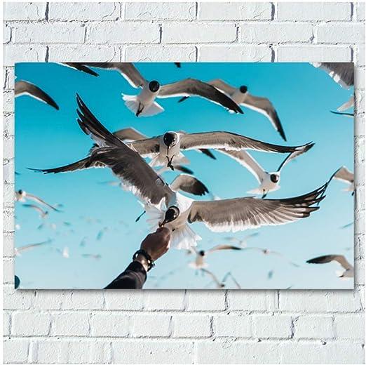 XingChen Leinwandbilder /Ölgem/älde Tiere Katzenposter Wandbilder Dekorationsbilder Flur Kinderzimmer Schlafzimmer Badezimmer 60x80cm Ohne Rahmen