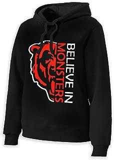 Women's Believe in Monsters Chicago Bears Retro Cool Women Sweatshirt Hoodie