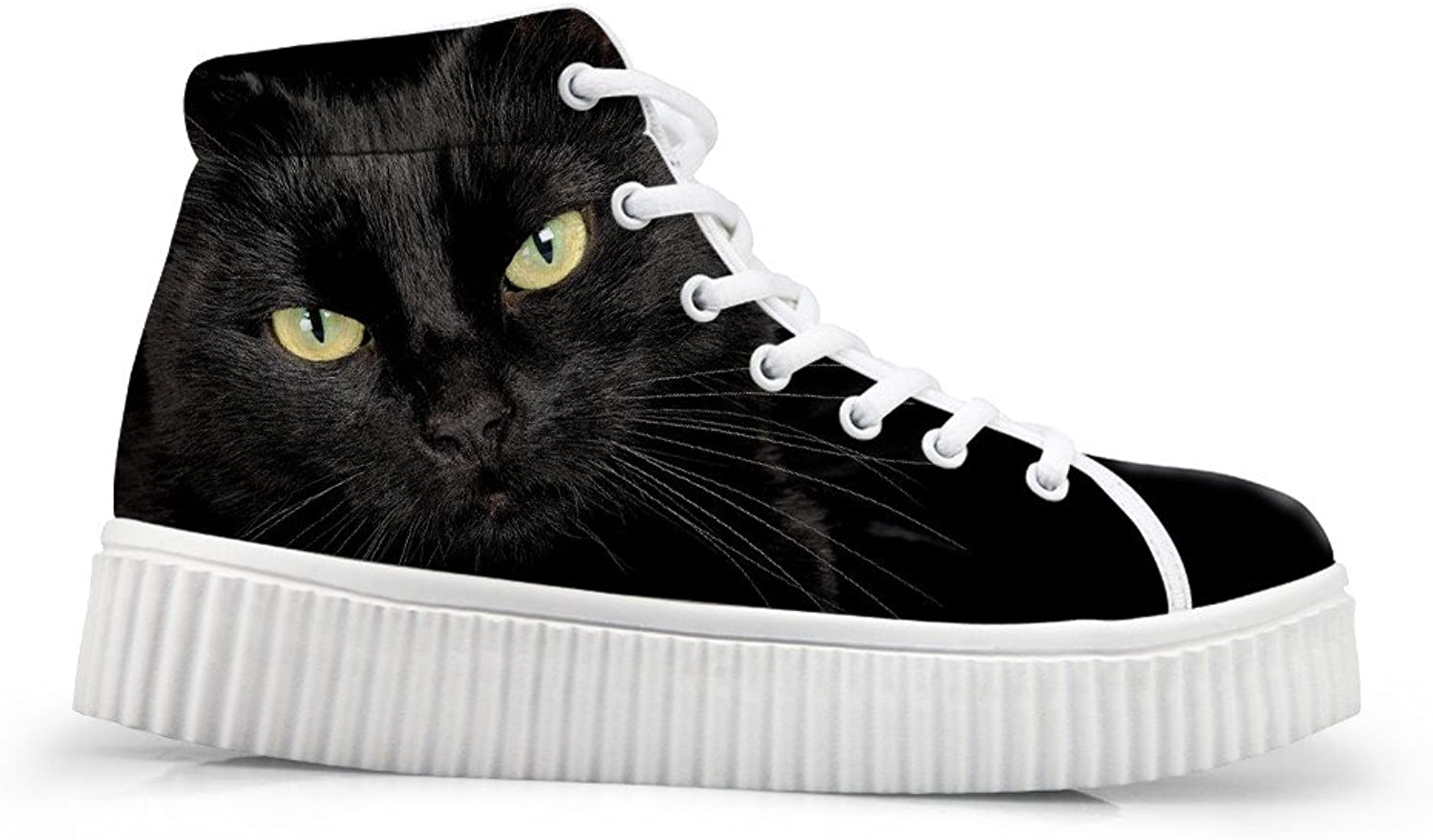Bigcardesigns Women Cat Design Casual Flat shoes