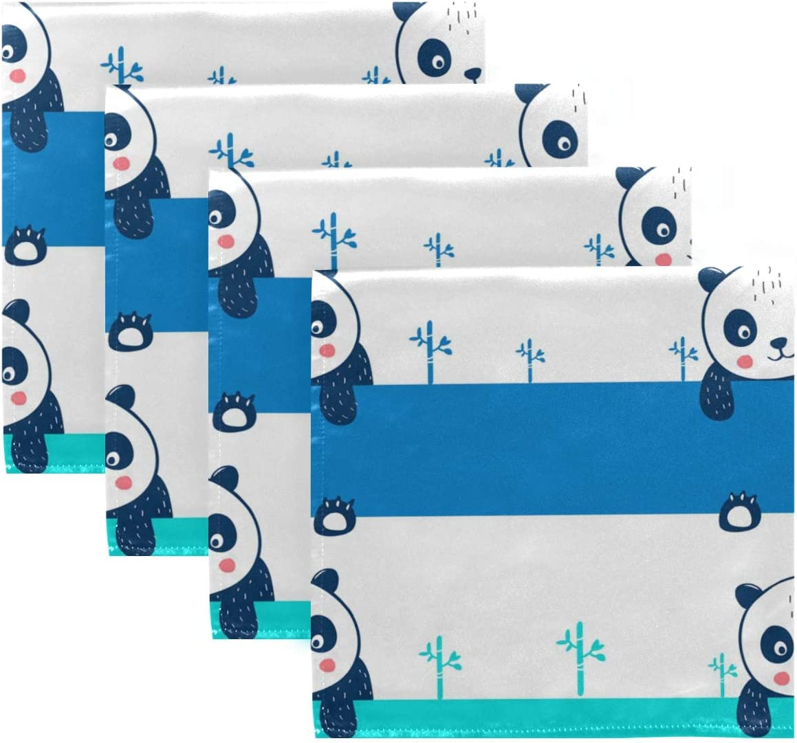 UMIRIKO Cute Louisville-Jefferson County Mall Panda Easy-to-use Cloth Napkin Pattern Cartoon Washable Machine