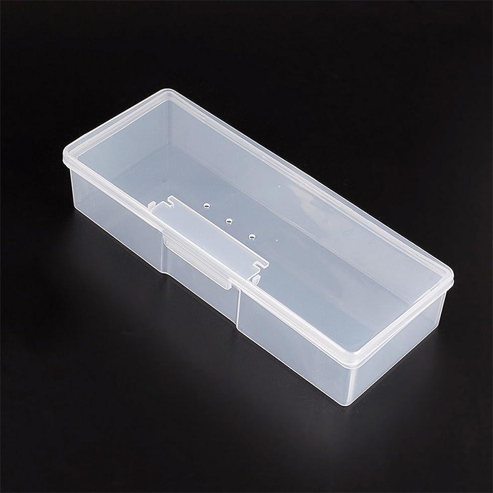 マニキュアツール 収納ボックス ポータブル キット 透明ネイルアート 収納 ホワイト