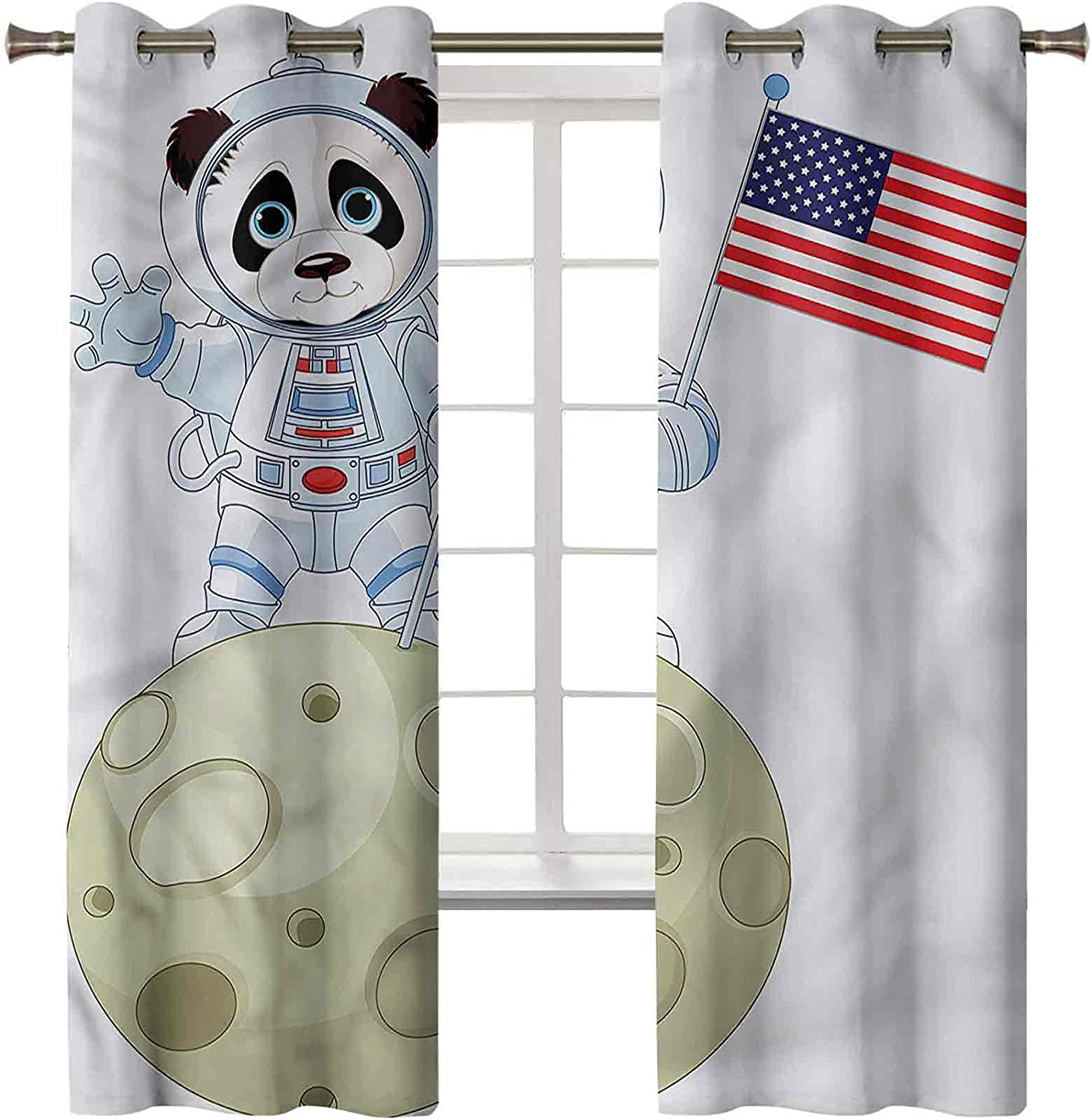 Blackout Window Curtain Thermal Insulated Panda Decor Astr Home Max 87% OFF Spasm price