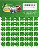 144 vierblättrige Kleeblätter, 20 mm, aus PVC Folie, selbstklebend, wetterfest, Glücksbringer Sticker Aufkleber