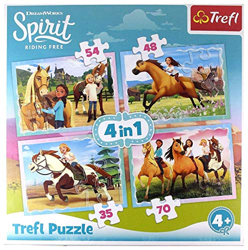 Trefl 4w1 Spirit Riding Free, PopoĹudniowa przejaĹzdĹzka [Puzzle]