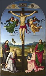 The High Quality Polyster Canvas Of Oil Painting 'Raphael The Mond Crucifixion ' ,size: 10 X 17 Inch / 25 X 42 Cm ,this Beautiful Art Decorative Prints On Canvas Is Fit For Powder Room Gallery Art And Home Artwork And Gifts