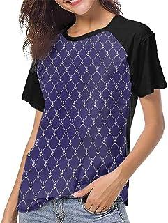 BlountDecor Cotton T-Shirt,Wind Rose Marine Sea Theme Fashion Personality Customization