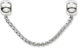 Thomas Sabo Femmes Hommes-Chaîne de sécurité Karma Beads Argent Sterling 925 Silicone KS0004-585-12