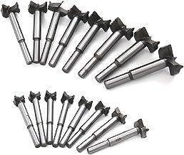 Mengshen Brocas Forstner 15-35mm 16PCS, Carbón Acero al Tungsteno Titanium Recubierto Sierra para Taladrar Madera HSS Punching bit Losas de Madera Conjuntos de Perforación de Carburo Cementado