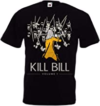 Like Kill Bill Vol 1 by Quentin Tarantino UMA Thurman Black Mamba Movie T-Shirt S-