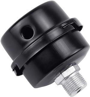 """FEIGO Silenciador de Filtro de FEIGO Silenciador de Compresor de Aire Silenciador del Filtro de Admisión de Metal de 3/8""""16mm Negro"""