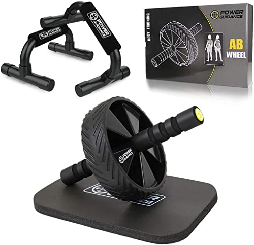 POWER GUIDANCE Ab Wheel Roller - - The Best Fitness Equipment for 6 Pack Abs & Core Workout - with Innovative Non-Sli...