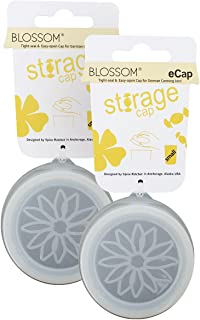 "Blossom 3"" Silicone Clear Storage Ecaps for Standard Weck Jars (Set of 2), 3-inch"