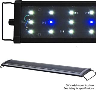 BeamsWork LED HI Lumen 6500K Aquarium Fish Tank Plant Light Freshwater Extendable Brackets Timer Ready