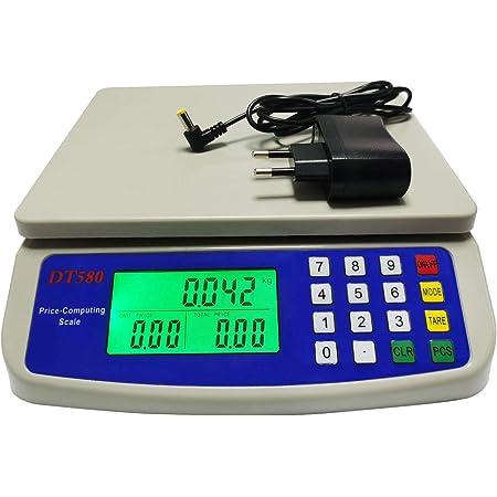 WCX Balance Cuisine Electronique de Précision - Balance Numérique Haute Précision, Acier Inoxydable LCD Rétroéclairé Auto-arrêt 10kg - 30kg (Couleur : Blanc, taille : 30kg/1g)