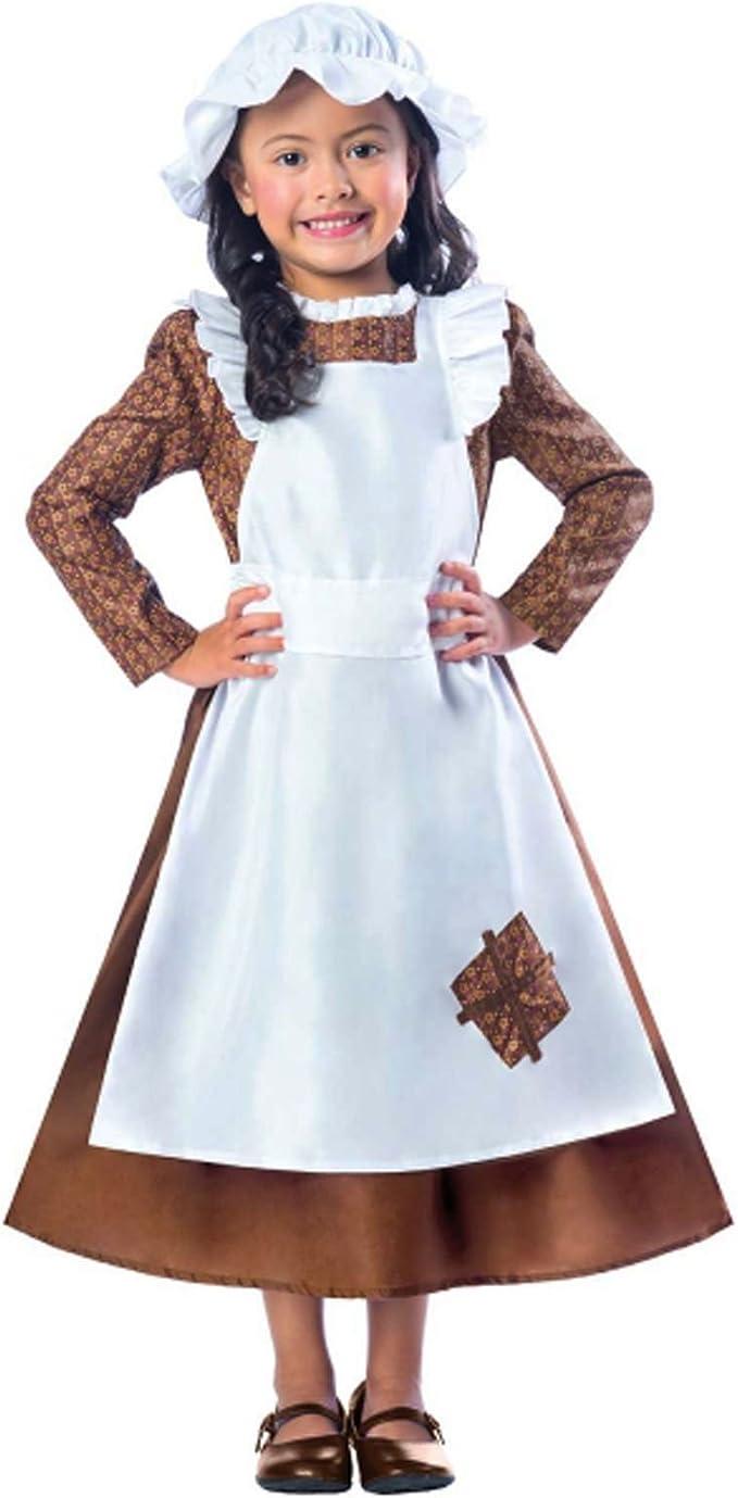 Mädchen Viktorianische Maid Kostüm Kostüm schlecht Dienstmädchen büchertag  Woche Kinder Kinder altmodisches Verkleidung Kriegszeit