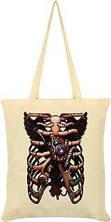 Steampunk Soul Tote Bag Cream 38 x 42cm