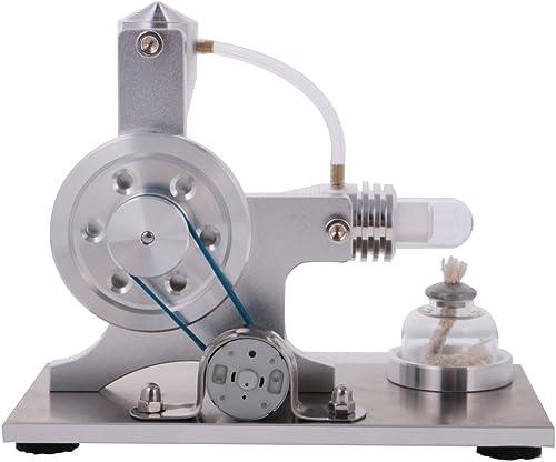 selección larga B Blesiya Stirling Physics Physics Physics Kit de Juguete Educativo Modelo de Motor de Aire Caliente Generador de Electricidad LED Combustión Externa - plata A  Ahorre 35% - 70% de descuento