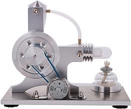 D DOLITY Modelo de Motor Stirling de Baja Temperatura Juguete Educativo Coleccionable Fácil de Montar - Plata#A