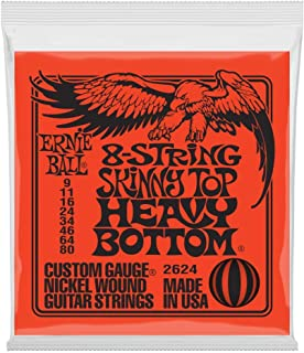 Ernie Ball 8-String Skinny Top Heavy Bottom Nickel Wound Set, .009 - .080