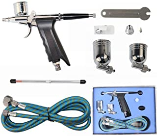 Professional Airbrush Set Paint Spray Gun Kit Trigger Sprayer,For Cake Making Art Craft Projects Tattoo Model RC Car Bodie...