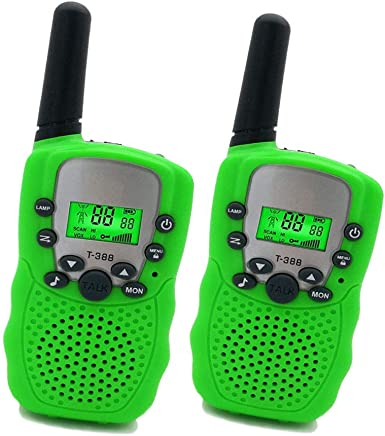 Best Gifts for Kid Green JRD/&BS WINL Toys Walkie Talkies for Kid,Fun Toys for 4-5 Year Old Boys,Kid Toys for 6-10 Year Old Travel Hunting,HK-588 1 Pair