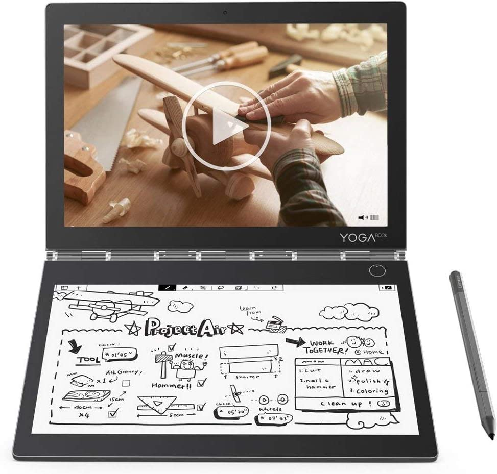 """2019 Lenovo Yoga Book C930 2-in-1 10.8"""" QHD Touchscreen Laptop Computer, Intel Core i5-7Y54 up to 3.2GHz, 4GB RAM, 128GB SSD, USB-C, Fingerprint Reader, Active Pen, Touch E-Ink Keyboard, Windows 10"""