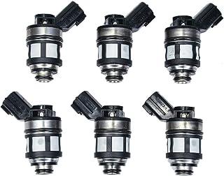 Injectors,cciyu 1 Hole Fuel Injector Set fit 1997-2000 Infiniti QX4,1996-2002 Mercury Villager//Nissan Quest,1999-2004 Nissan Frontier,1996-2000 Nissan Pathfinder,2000-2004 Nissan Xterra 166001800,6Pcs