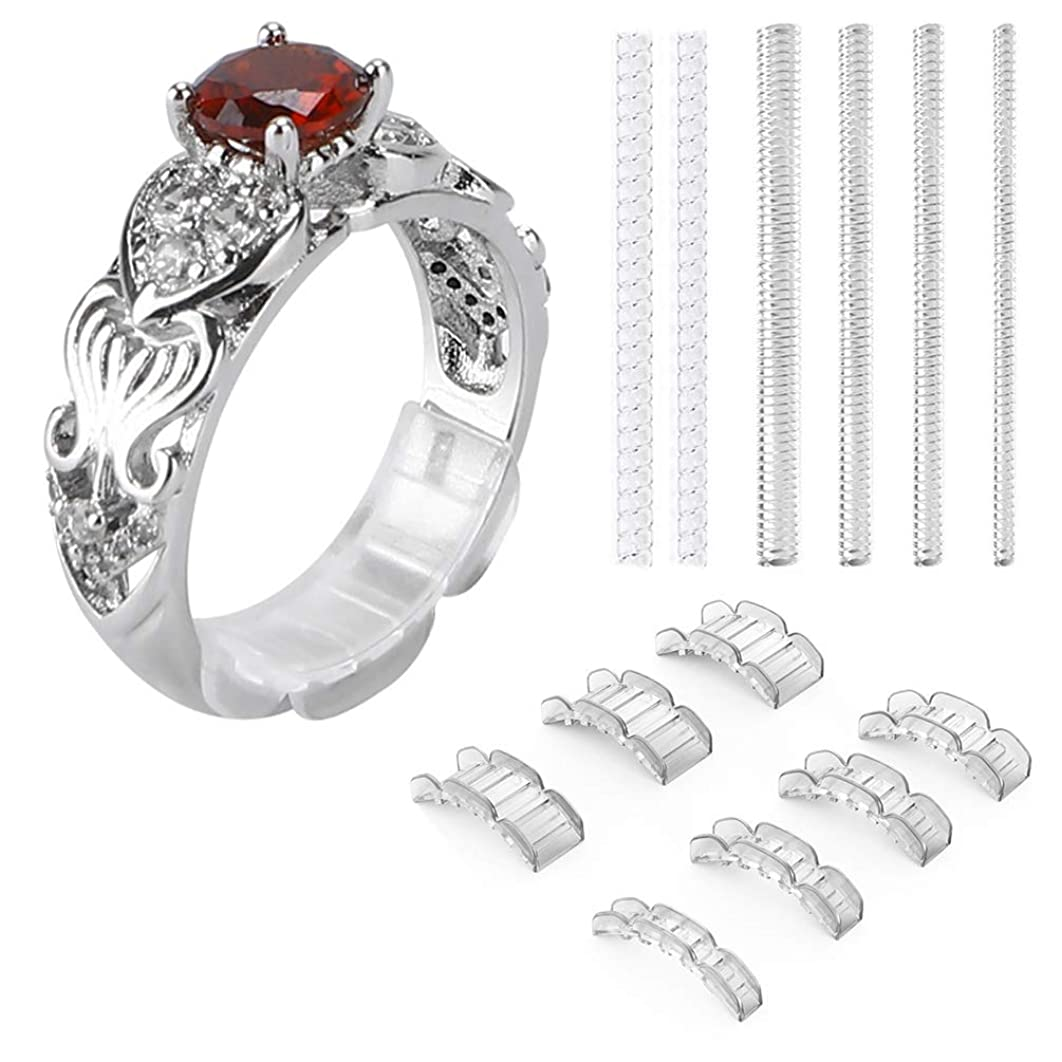 2 Styles Invisible Ring Size Adjuster for Loose Rings – Ring Guard, Ring Sizer, 20 Pieces, 13 Sizes Fit for Man and Woman Ring