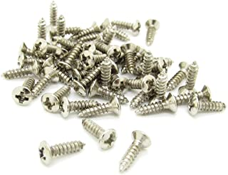 Chrome Guitar Bass Mounting Pickguard Screw for ST TL SG LP Guitar Pack of 100