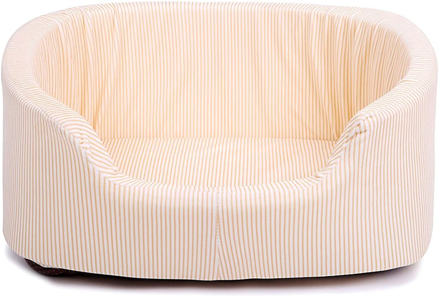 Pet Waterloo Pet nestDogs Bed House Pet Bed Sleeping Bag Pet sofa Cushion For Cats And Small Medium Dogs Best Pet Supplies Beige stripesS M (Size   S)