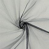 Fabulous Fabrics Tüll schwarz, Uni, 150cm breit – zum