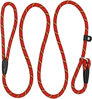 Black Bahob/® Rope Dog Lead 5FT Durable Rope with Soft Padded Handle and High Reflective Threads,Twist Lead in Strong Pulling Support Dogs