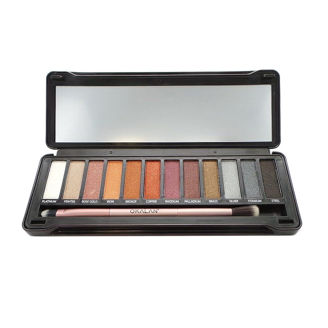 秀でるセブン飢えた(3 Pack) OKALAN Natural Color Metal Eyeshadow (並行輸入品)