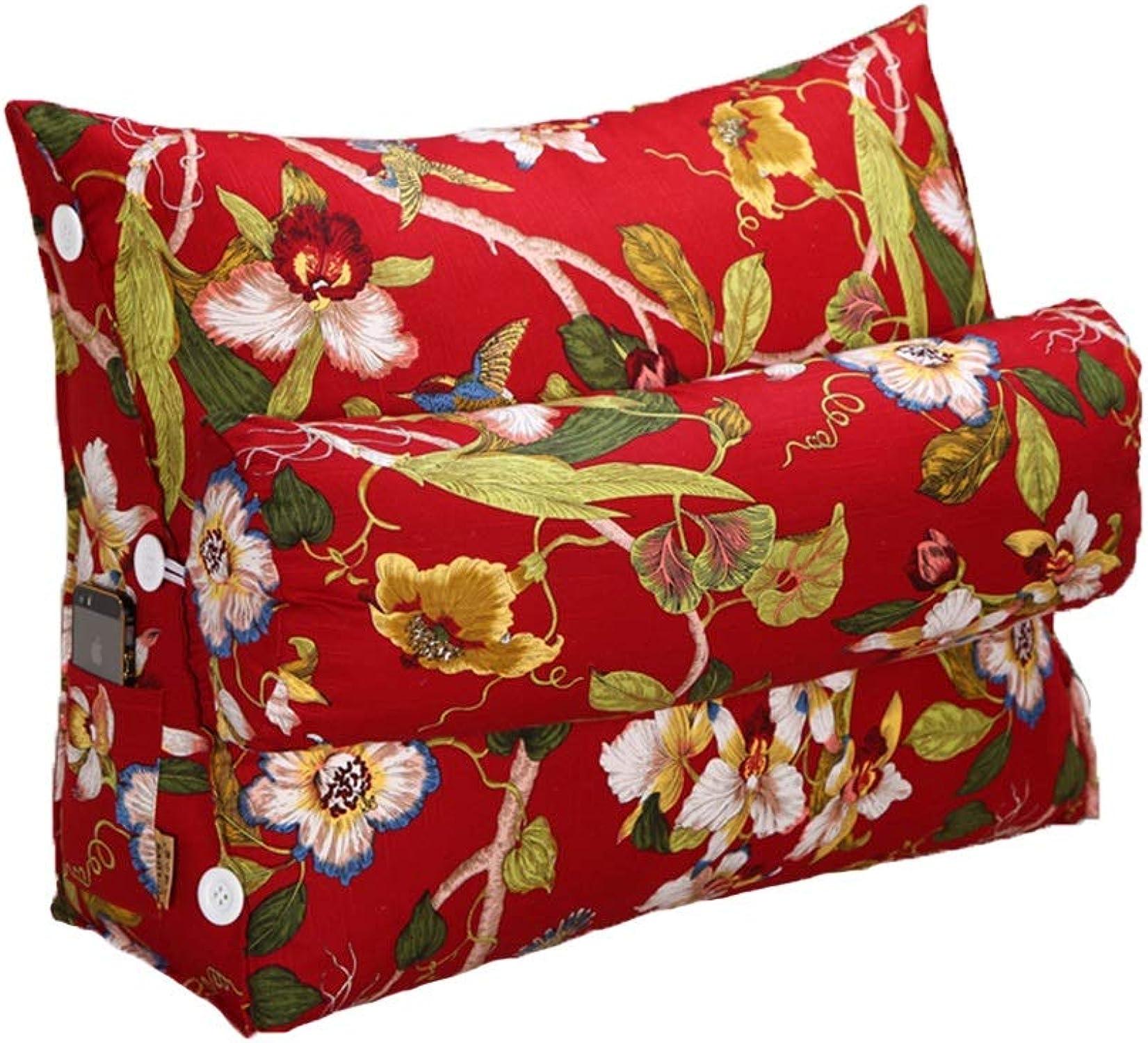 Coussin en tissu pour canapé-lit Coussin d'oreiller de lecture de coin de lit, coussin de taille de coussin de sofa de coussin d'oreiller de soucravaten de positionneHommest triangulaire de cale-taille de bu
