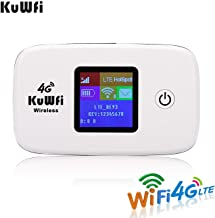 KuWFi 4G LTE Mobile WiFi Hotspot Unlocked Wireless Internet Router Devices with SIM Card Slot for Travel Support B1/B3/B5/B7/B8/B20 in Europe Caribbean South America Africa