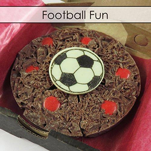 Gourmet Schokolade Mini Pizza belgischen Schokolade Football 4'' Pizza