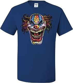 Mad Evil Clown Face T-Shirt Scary Horror Insane Joker Tee Shirt