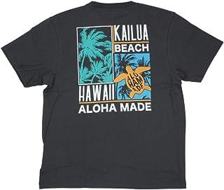 ALOHA MADE アロハメイド メンズ 半袖 Tシャツ (メンズ チャコールグレー) 202MA1ST067 フララニ サーフブランド ハワイアン 雑貨 (L)