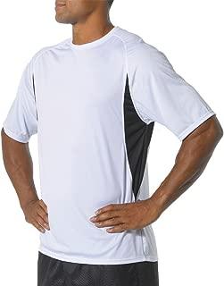 A4 Men's High-Performance Moisture-Wicking Color Block T-Shirt