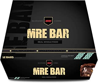 Redcon1 MRE Bar - Meal Replacement Bar (1 Box / 12 Bars) (Mint Chocolate)