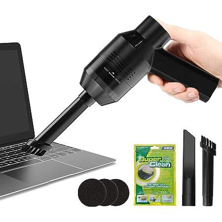 MECO キーボード掃除 PCキーボード掃除機 卓上クリーナー 充電式 ミニクリーナー掃除機ミニ 集塵装置 掃除 強力吸引 OA掃除機 USB充電式 クリーニングゲル付き