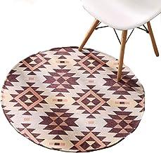 Office Chair Mat Geometric Patterns Carpet, Hard-Floor Protector Thicken Desk Chair Mat for Living Room, Non-Slip Rugs Flo...