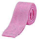 DonDon Cravatta Uomo fatta a maglia 5 cm - rosa