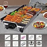 Barbecue-Grill Indoor-Elektrogrill Rauchfreier Antihaft-Grillplatte Multifunktions-Elektro-Backform Indoor-Outdoor-BBQ-Grill-Set Für Familienfreunde, Die Sich Versammeln (L) Nützlich