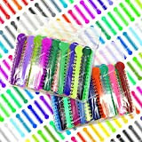 2080 Assorted Dental Ligature Elastic Rubber Ties Orthodontic Bands for Braces Brackets (2 Bags of 1040)